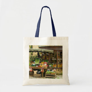 Fruit and Veg Colorful English Village Store Tote Bag