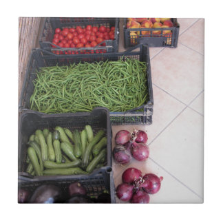 Fruit and vegetable boxes small square tile