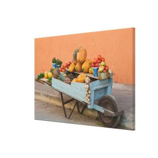 Fruit and vegetable cart, Cuba Canvas Print