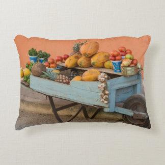 Fruit and vegetable cart, Cuba Decorative Cushion
