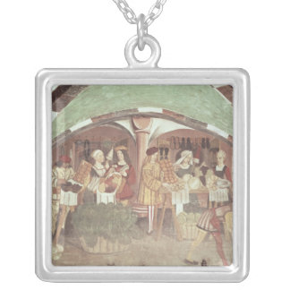 Fruit and Vegetable Market Silver Plated Necklace