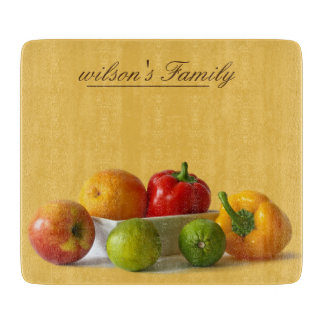 Fruit and Vegetable Natural Personalized Cutting Board