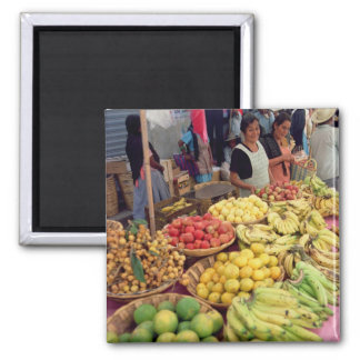 Fruit and vegetable stall refrigerator magnets