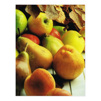 Fruit and vegetables, Apples and pears Postcard
