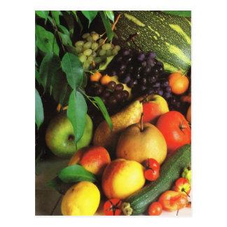 Fruit and vegetables, Autumnal harvest Postcard