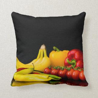 fruit and veggie polyester throw pillow