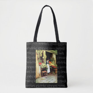 Fruit and Veggie Vintage Market Tote Bag