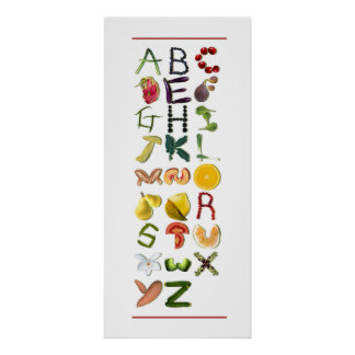 Fruit and Veggies Poster
