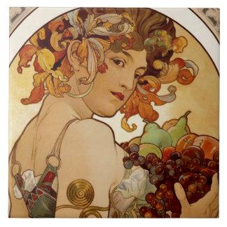 Fruit - Autumn 1897 Large Square Tile