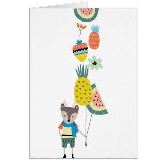 Fruit balloons card