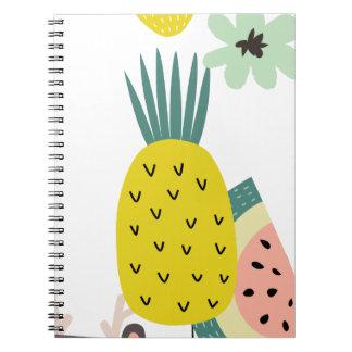Fruit balloons notebooks