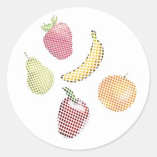 Fruit Basket Classic Round Sticker