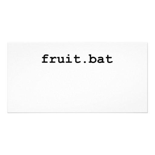 Fruit.bat Customized Photo Card