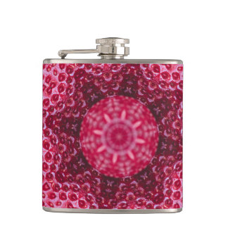 FRUIT BOHEMIAN KALEIDOSCOPIC GEOMETRIC MANDALA HIP FLASK