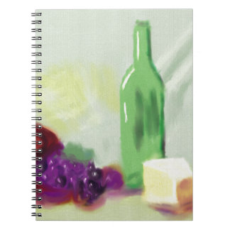 Fruit Bottle Cheese Art Spiral Note Books