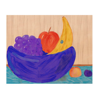 Fruit Bowl 2-inedible Wood Wall Art