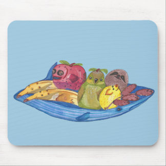 Fruit Bowl Animals Mouse Pad