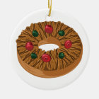 Fruit Cake Ceramic Ornament
