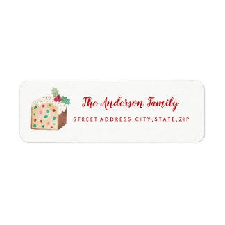 Fruit Cake Christmas Return Address Label