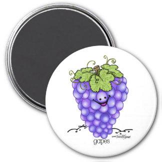 Fruit Cartoon - Grapes Fridge Magnets