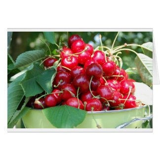 Fruit Cherries Sweet Dessert Destiny Gifts Card