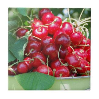 Fruit Cherries Sweet Dessert Destiny Gifts Tile