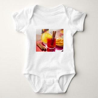 Fruit citrus tea with cinnamon and orange baby bodysuit