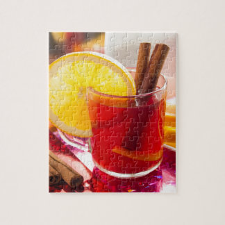 Fruit citrus tea with cinnamon and orange jigsaw puzzle