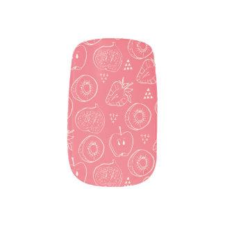 Fruit Cut in Half Pattern Minx Nail Art