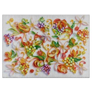 Fruit Decorative Glass Chopping Board