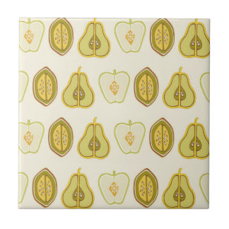 Fruit Design Apples Pears Avocados Kitchen Gifts Tile