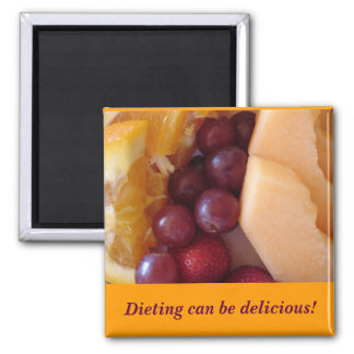 fruit, Dieting can be delicious! Square Magnet