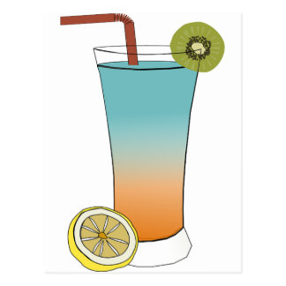 Fruit Drink Sweet Dessert Destiny Food Kiwi Lemon Postcard