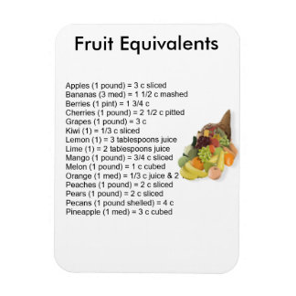Fruit Equivalents Magnet