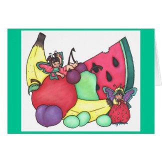 Fruit Fairies ~ Blank Card