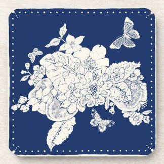 Fruit Flora and Butterflies Coasters