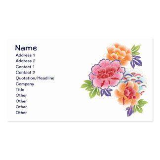 Fruit Flower Cool Cute Girly Retro Floral Pack Of Standard Business Cards
