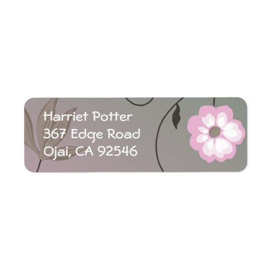 Fruit Flower Cool Cute Girly Retro Floral Return Address Label