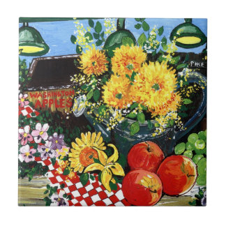 Fruit & Flowers Small Square Tile