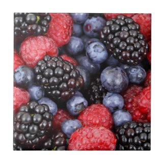 Fruit-- Fresh berries--Tile/Trivet Small Square Tile