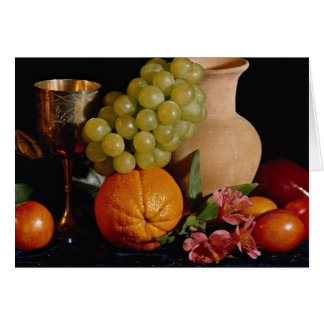 Fruit, goblet and jug card