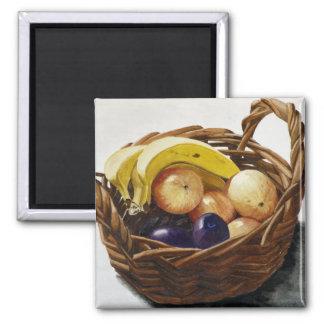 Fruit in a Basket Fridge Magnet