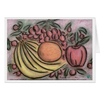 Fruit in Motion Greeting Cards