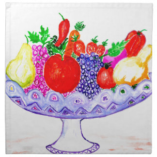 Fruit in Vase Art Napkin