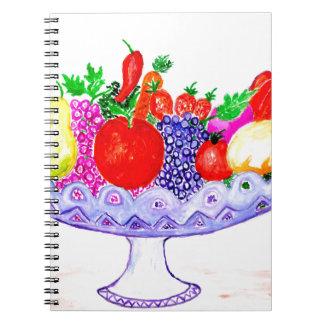 Fruit in Vase Art Spiral Notebook