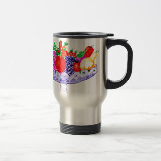 Fruit in Vase Art Travel Mug