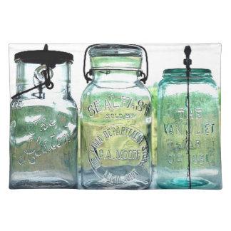 Fruit Jar Collector Antiques Vintage Mason Jars Placemat