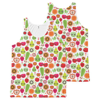 fruit kids illustration apple All-Over print tank top