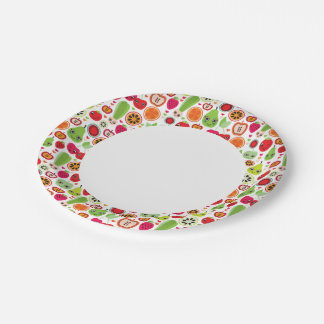 fruit kids illustration apple paper plate