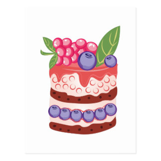 Fruit Layer Cake Postcard